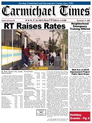 RT Raises Rates Neighborhood - Carmichael Times