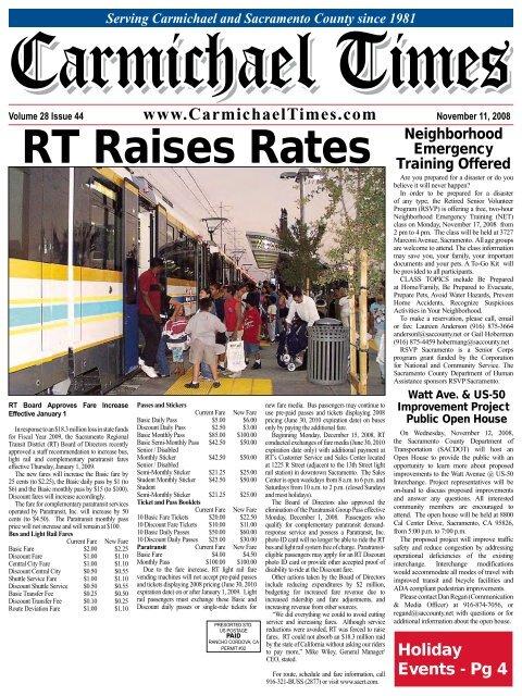 RT Raises Rates Neighborhood - Carmichael Times