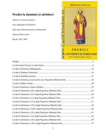Predici la duminici si sarbatori.pdf - Parohia Ortodoxă din Hamburg