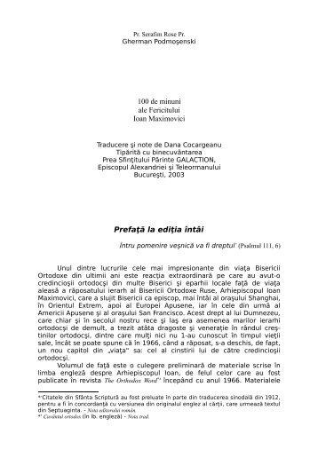 """100 de minuni ale Fericitului Ioan Maximovici.pdf - """"Citeşte mult, ca ..."""