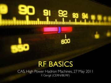 RF BASICS - CERN Accelerator School