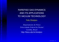 RAREFIED GAS DYNAMICS AND ITS APPLICATIONS TO VACUUM ...