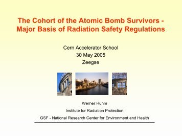The Cohort of the Atomic Bomb Survivors - Major Basis of Radiation ...