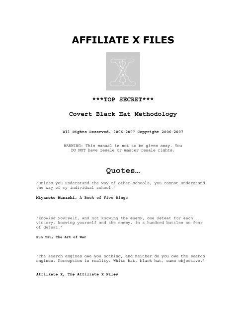 AFFILIATE X FILES pdf - Index of