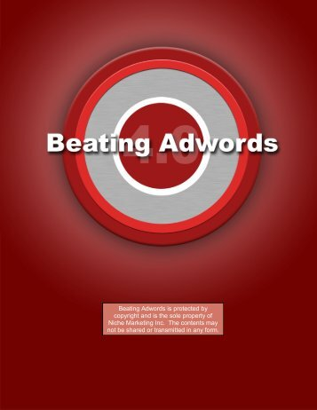 Tame Adwords And Beat Your Competition - Index of