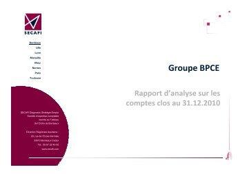 BPCE Comité de Groupe 2010 - CGT - Caisse d'Epargne