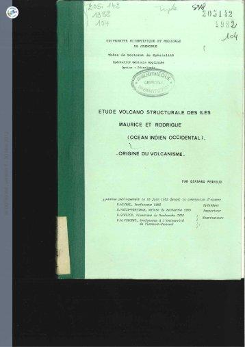 [tel-00759366, v1] Etude volcano structurale des îles Maurice et ...