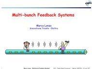 Multi-bunch Feedback Systems - CERN Accelerator School