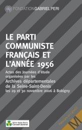 Le Parti communiste français et l'année 1956 - Fondation Gabriel Péri