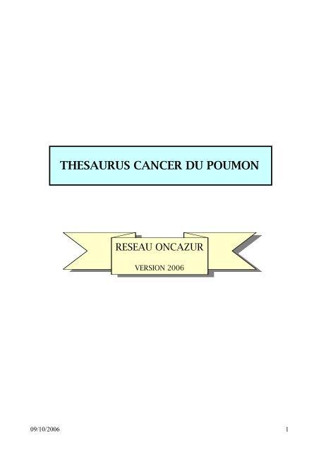 Thésaurus cancer du poumon - GOThA (Groupe d'Oncologie ...