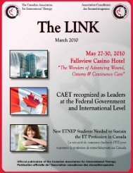 March 2010 - The Canadian Association for Enterostomal Therapy