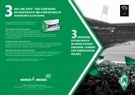 der Flyer - Werder Bremen