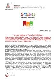 La nuova stagione del Teatro Piccolo Orologio - Comune di Reggio ...