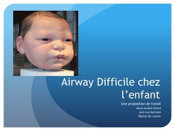 Airway Difficile chez l'enfant