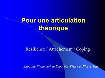 I. La résilience : définition du concept - Pierre TAP