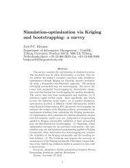 Simulation-optimization via Kriging and ... - CASTLE Lab