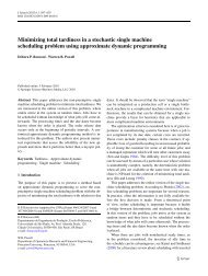Minimizing total tardiness in a stochastic single machine scheduling ...