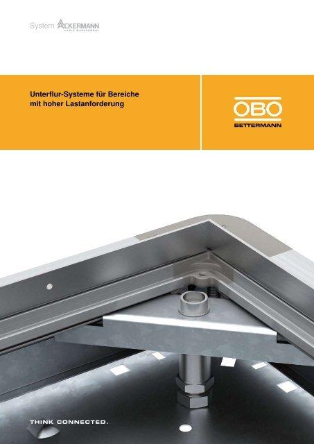 Unterflur-Systeme für Bereiche mit hoher ... - OBO Bettermann