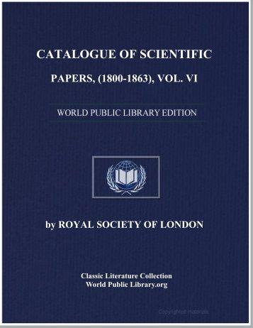 vol. vi - World eBook Library