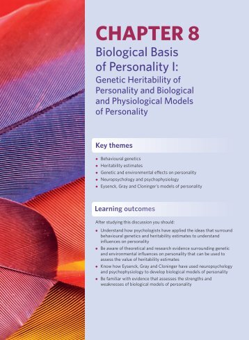 Chapter 8: Biological Basis of Personality I - Pearson Education