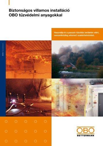 Biztonságos villamos installáció OBO tűzvédelmi ... - OBO Bettermann