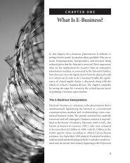 CHAPTER ONE What Is E-Business?