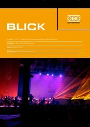 OBO Blick Ausgabe 1/2011 - OBO Bettermann