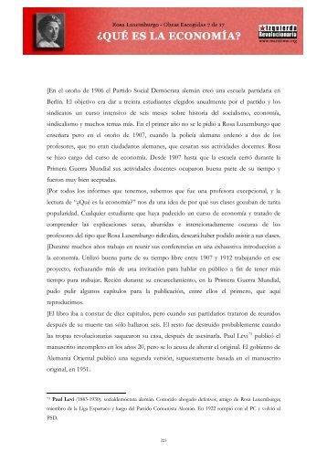 Rosa Luxemburgo - ¿Qué es la economía? - Marxists Internet Archive