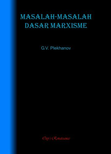 MASALAH-MASALAH DASAR MARXISME