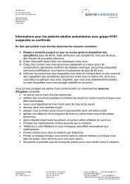 Informations pour les patients adultes ambulatoires avec grippe ...