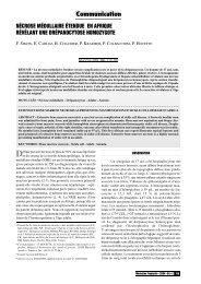 Nécrose médullaire étendue en Afrique révélant une drépanocytose ...