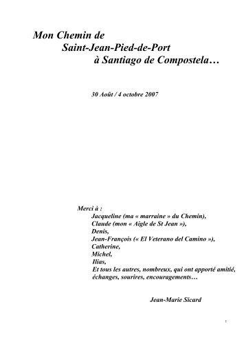 PAGE 1à 10 - Au coeur du chemin de Saint Jacques de Compostelle