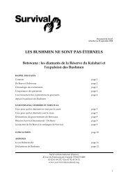 LES BUSHMEN NE SONT PAS ÉTERNELS - Survival International