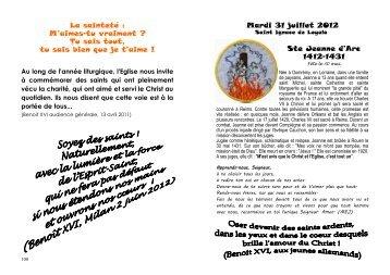 livret de prières des jeunes 2012 - Tract Colonie KATORIN 2012