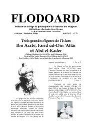 Ibn Arabî, Farid ud-Din 'Attâr et Abd el-Kader