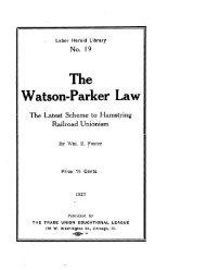 Watson-Parker Law