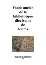 Fonds ancien - Diocèse de Reims