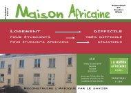 Brochure de Septembre 2011 - la Maison Africaine