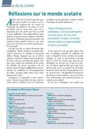 Réflexions sur le monde scolaire - Diocèse de Reims