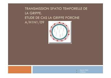 transmission spatio temporelle de la grippe. etude ... - AgroParisTech