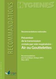 Air ou Gouttelettes - SF2H