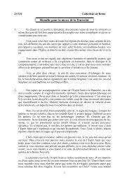 Homélie pour la messe de la Pentecôte - Diocèse de Reims