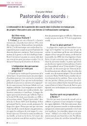 Pastorale des sourds : le goût des autres - Diocèse de Reims