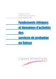 Fondements éthiques et domaines d'activités des services ... - Prosaj