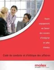Code de conduite et d'éthique des affaires - Molex