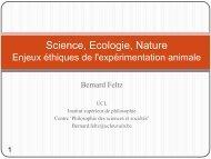Enjeux éthiques de l'expérimentation animale (Bernard Feltz) PDF