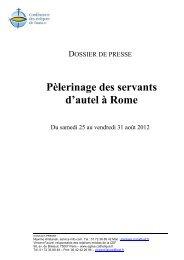 Télécharger le dossier de presse au format PDF - Eglise catholique ...