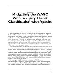 Mitigating the WASC Web Security Threat Classification with - Pearson