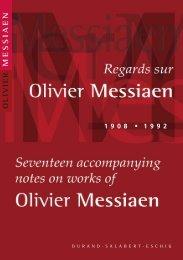 messiaen olivier 1 9 0 8 - Durand Salabert Eschig