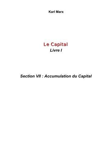 Le Capital - Les Classiques des sciences sociales